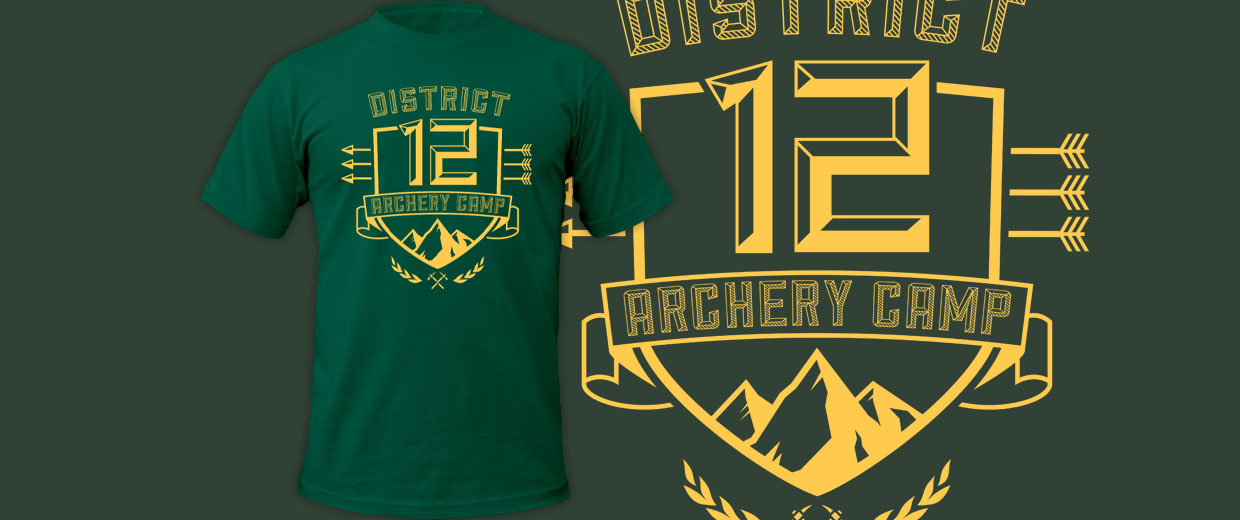 District 12 Archery Camp tees and hoodies