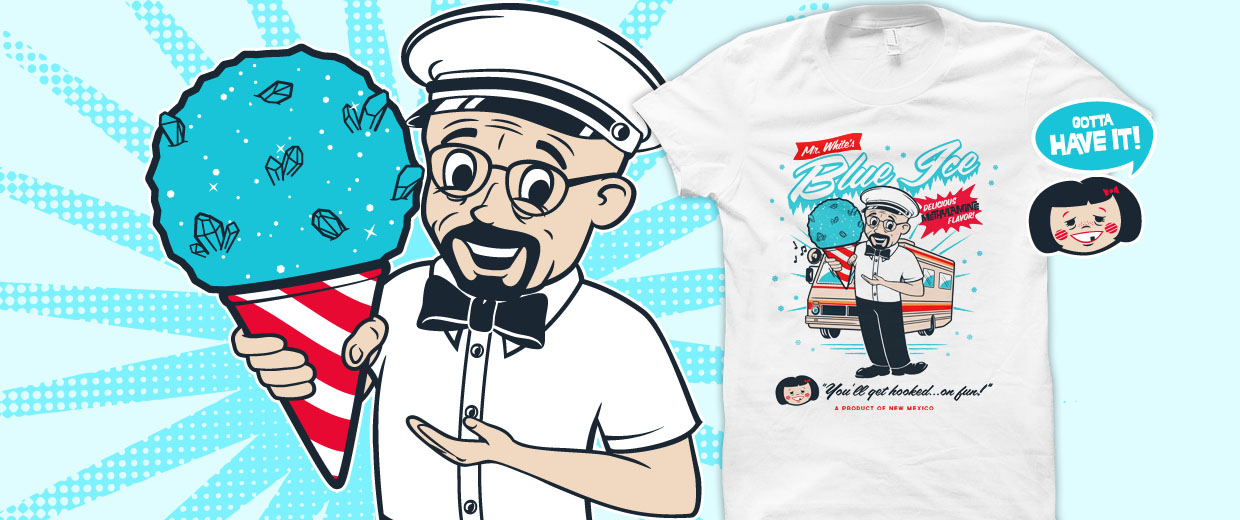 Mr. White's Blue Ice Breaking Bad t-shirts and hoodies