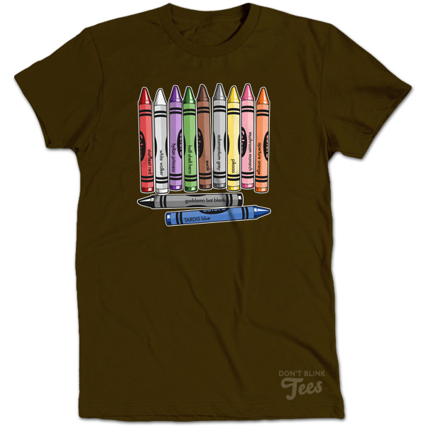 Color Me Nerdy Crayon  t-shirt preview
