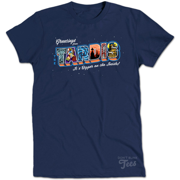 Greetings from the TARDIS Doctor Who Postcard Tee t-shirt preview