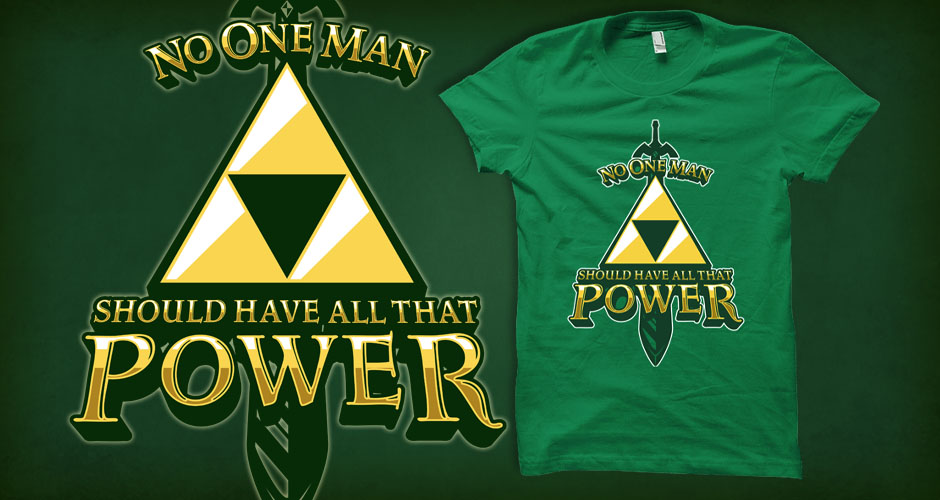 Triforce Power Legend of Zelda Kanye West Mashup Tee