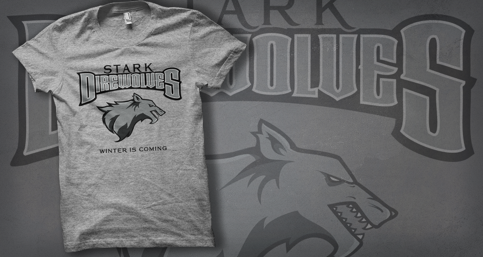 Team Stark Game of Thrones Direwolves T-Shirt