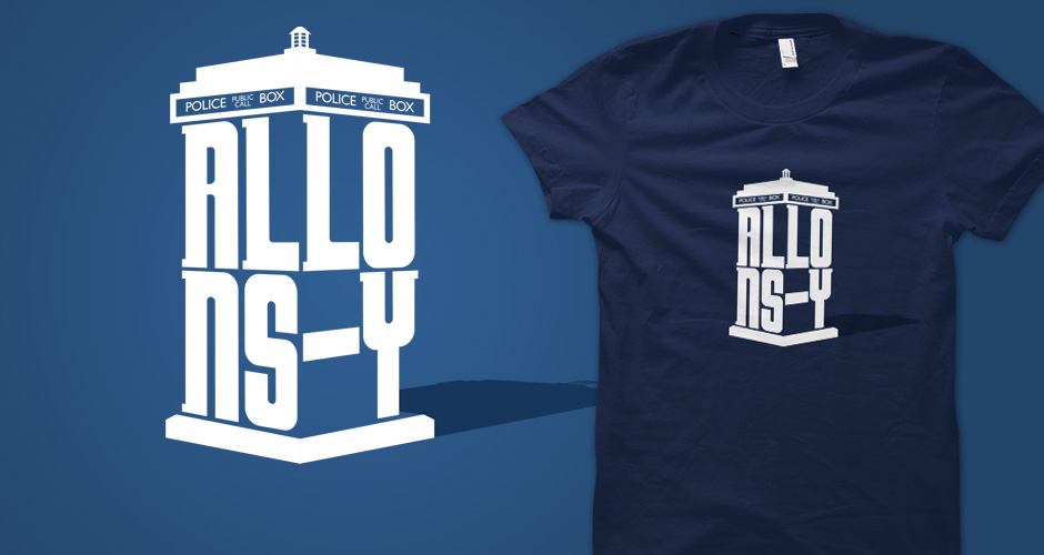 'Allons-y' Doctor Who TARDIS T-Shirts