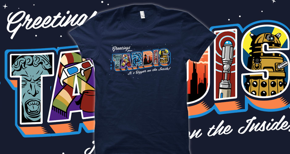 Greetings from the TARDIS Doctor Who Postcard Tees