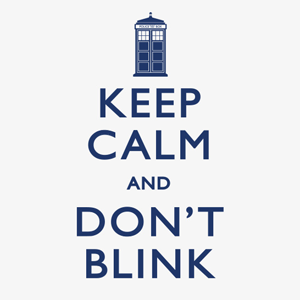 Keep Calm and Don't Blink Light Doctor Who T-Shirt