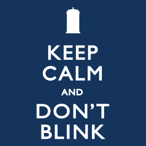 Keep Calm and Don't Blink Doctor Who Zip Hoodie