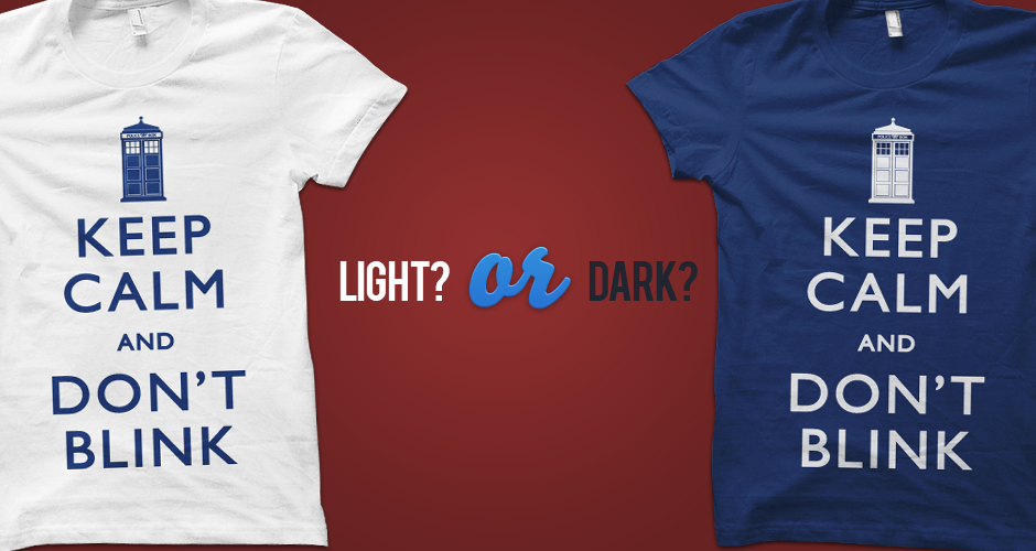 Keep Calm and Don't Blink Doctor Who T-Shirts Light vs Dark