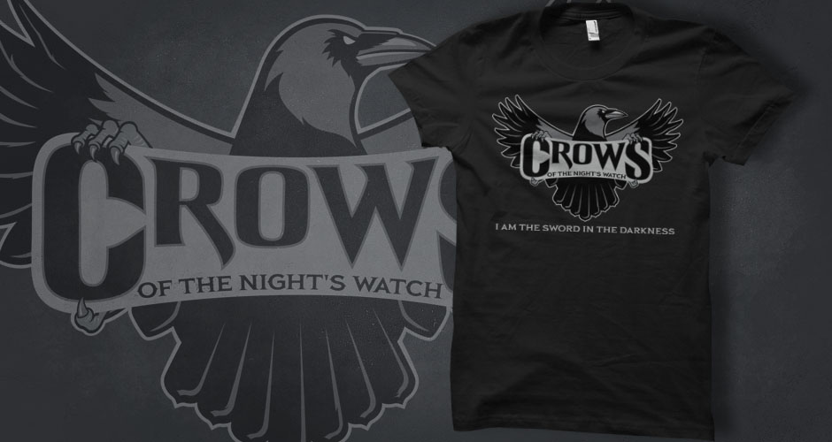 Game of Thrones 'Crows of the Night's Watch' T-Shirts