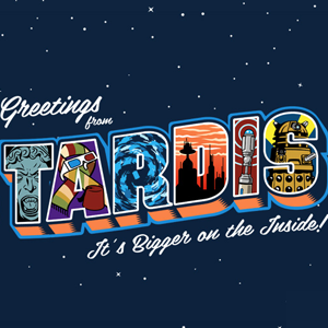 Greetings from the TARDIS Doctor Who Postcard Tee
