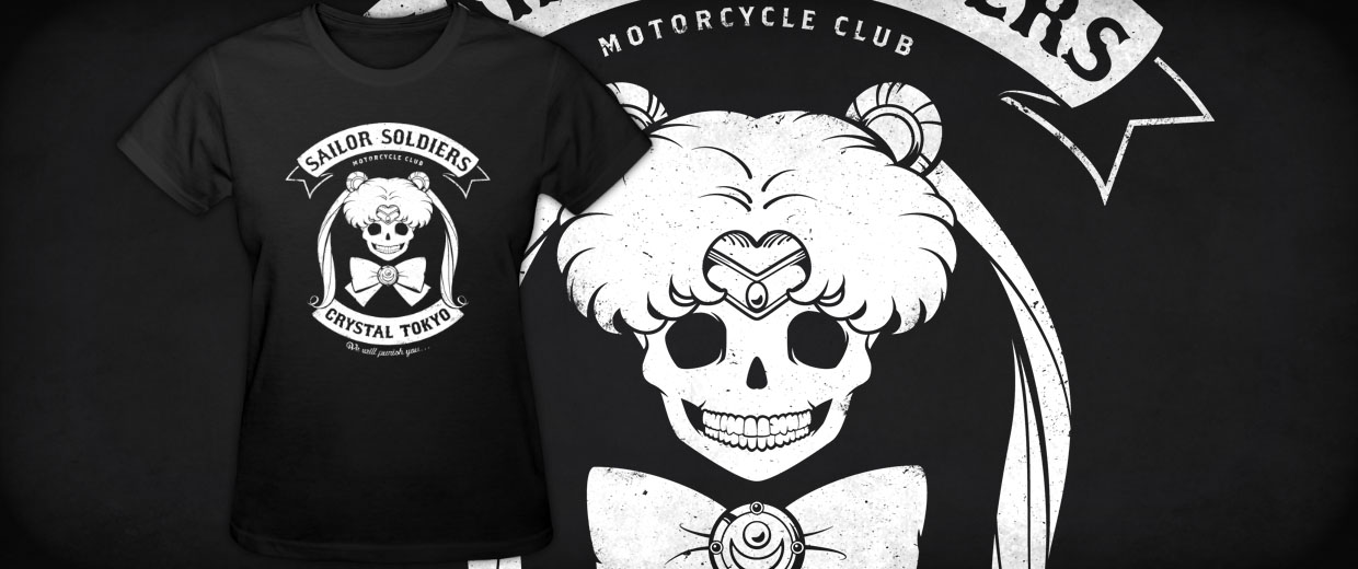Sailor Moon Moon's Angels Motorcycle Club T-Shirts