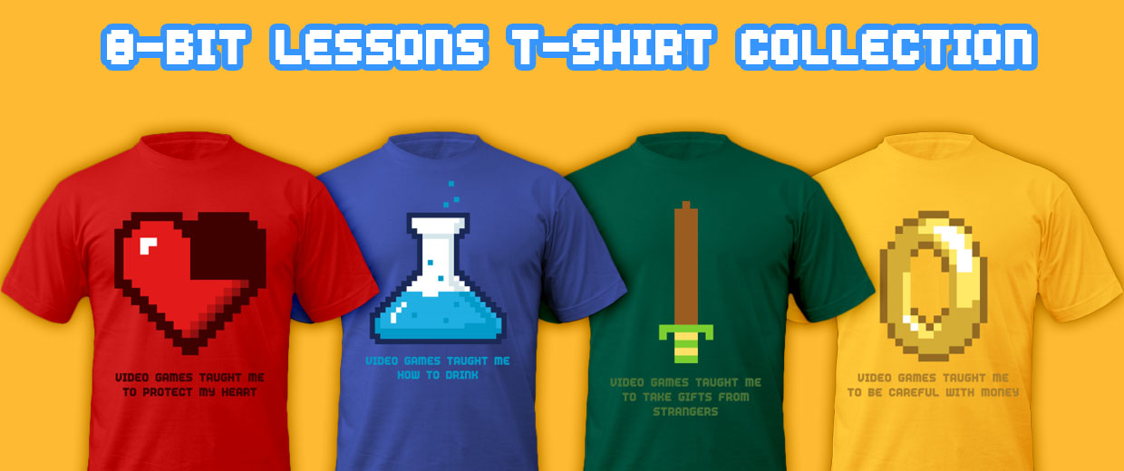 8-Bit Lessons Video Game Tees