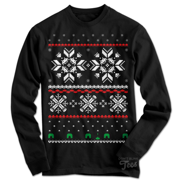Holiday Invaders Space Invaders Ugly Christmas Sweater sweatshirt preview