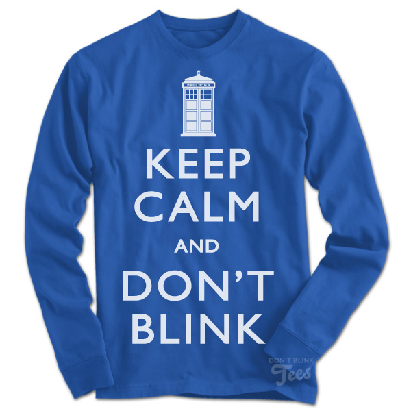 The Keep Calm and Don't Blink Doctor Who  sweatshirt preview