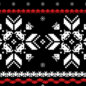Holiday Invaders Space Invaders Ugly Christmas Sweater